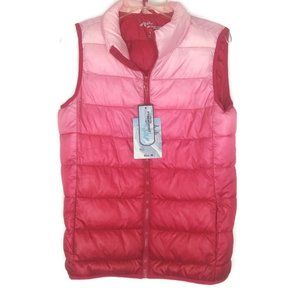 Jackson Hole Pink Ombre Puffer Vest
